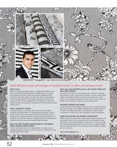 Constantia Fabrics in the News