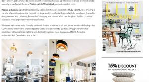C20 Galerie and Posie's Café News